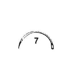 Cincinnati Regular Surgeons Reverse Suture Needles Size 3, 5 or 7 - ½ Circle Reversed Cut, 12/pkg - Non-Sterile