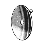 "Miltex 3"" Diameter - Small Size - Head Mirror without Head Band - 5/8"" Aperture - Boilable"