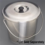 "Sklar 11-5/8"" x 9-1/4"" Hospital Bucket 13 quart, without Lid"