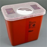 Sklar Sharps Container High Volume Size Red With Locking Rotor Two Gallon