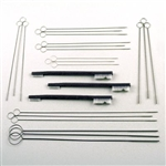 Sklar Micro-Ophthalmic Brush Set Includes Various Sizes of Cannula Brushes, Suction Tube Brushes and Double End Nylon Brush