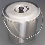 "Sklar 11-5/8"" x 9-1/4"" Hospital Bucket 13 qt."