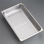 "Sklar Perforated Trays - 12 3/4"" x 10 3/8"" x 4"""