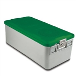 Sklar SklarLite Sterilization Full Size Container - Green (Non Perforated)