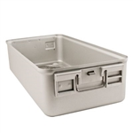 "Sklar SklarLite Sterilization Full Size Container Bottom 23"" x 11"" x 5"" Silver (Perforated)"