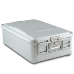 Sklar SklarLite Mid Size Sterilization Container Safe Model Silver Non-Perforated Bottom