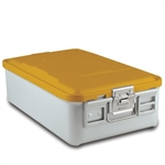 Sklar SklarLite Mid Size Sterilization Container Safe Model Yellow Non-Perforated Bottom