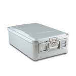 Sklar SklarLite Mid Size Sterilization Container Safe Model Silver Perforated Bottom