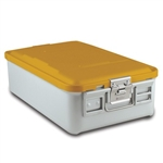 Sklar SklarLite Mid Size Sterilization Container Safe Model Yellow Perforated Bottom