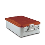 Sklar SklarLite Mid Size Sterilization Container Safe Model Red Perforated Bottom