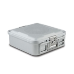 Sklar SklarLite Half Size Sterilization Container Safe Model Non Perforated (Silver)