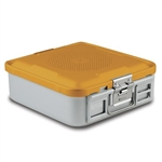 Sklar SklarLite Half Size Sterilization Container Safe Model Non Perforated (Yellow)