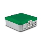Sklar SklarLite Half Size Sterilization Container Safe Model Non Perforated (Green)