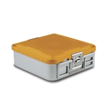 Sklar SklarLite Half Size Sterilization Container Safe Model Perforated (Yellow)