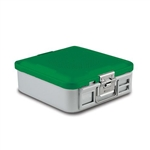 Sklar SklarLite Half Size Sterilization Container Safe Model Perforated (Green)