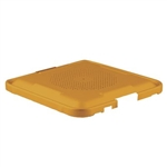 Sklar SklarLite Sterilization Half Size Container Lid Standard Perforated Lid (Yellow)