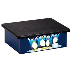 Cool Pals Penguins Blue Laminate Step Stool