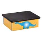Dino Days Yellow Laminate Step Stool