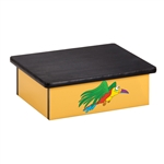 Rainforest Parrot Laminate Foot Stool