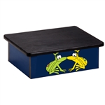 Rainforest Tree Frogs Blue Laminate Step Stool