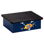 Space Place Alien Blue Laminate Step Stool