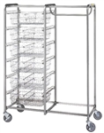 R&B Six Basket/Garment Hanger Resident Item Cart