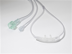 Pediatric O2 Nasal Cannula + Sample Line, 10/pkg