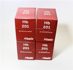 Hb 201 Hemoglobin Microcuvettes, Individually Packaged, 100/bx