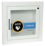 AED Wall Cabinet with Alarm, Fire Rated Recessed