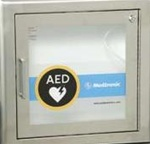 AED Stainless Steel Wall Cabinet Recessed