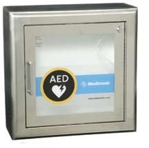AED Stainless Steel Wall Cabinet with Alarm and Strobe