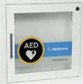 AED Semi-Recessed Wall Cabinet w/ Alarm