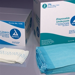 Disposable Underpads, 30x30,(105 gram) - 2/50/Cs