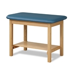Clinton H-Brace Taping Table with Shelf