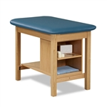 Clinton H-Brace Taping Table w/ End Shelf