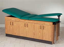 Clinton Laminate Double Leg Lift Table with Cabinets