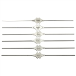 "Miltex Bowman Lacrimal Probe 4-7/8"", Sterling Double-Ended, Size 3-4, 1.3mm & 1.4mm Tips"