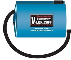 Aneroid Calibrated® V-Lok® Cuff & Bag (Single Tube)