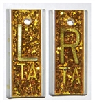 Elite Personal Touch X-Ray Marker - Glitter Yellow with Personalized Initials