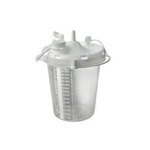 Disposable Collection Canister with DISS inlet and integrated filter (2400mL)
