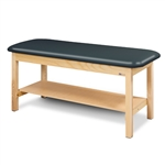 Flat Top Classic Series Straight Line Treatment Table w/ Full Shelf