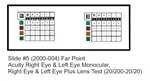 2000-005 Vision Tester Individual Slide for Optec 5000 Series: Far Point Acuity - Left Eye Monocular (20/200-20/13)