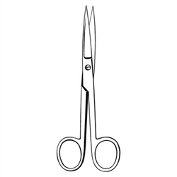 Sklar Econo Operating Scissors, Straight, Sharp/Sharp, 5 1/2""