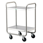Lakeside 500 Lb Capacity, Tubular Frame cart, (2) 15.5 x 24 Inch Shelves