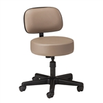 Clinton Style-Line Series 5-Leg Spin Lift Exam Stool with Backrest