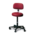 Hausmann 2143 Air-Lift Stool with Padded Backrest