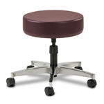 Clinton Select Series 5-Leg Spin Exam Stool with Aluminum Base
