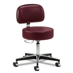 Clinton 5-Leg Pneumatic Stool w/Backrest
