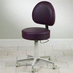 5-Leg Pneumatic Stool with D-Shaped Backrest