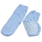 Slipper Socks; Large - Sky Blue (48/cs)